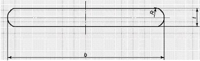 図1 平鋼の断面形状