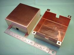 銅板(タフピッチ銅 C1100P)、板厚t1.0:精密板金加工、試作1個