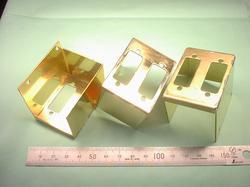 板金加工 : 真鍮 C2801P t1.0 ハンダ付け(半田付け/はんだ付け)