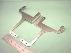 ロボットパーツ(二足歩行ロボット部品) : 精密板金加工 A5052P アルミニウム合金 t1.2 白アルマイト処理