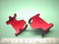 ロボットパーツ(二足歩行ロボット部品) : 精密板金加工 A5052P アルミニウム合金 t1.2 赤アルマイト処理