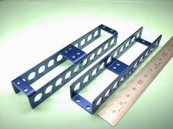 二足歩行ロボットパーツ(ロボットキット・部品) : 精密板金加工 A5052P アルミニウム合金 青アルマイト処理 t1.5