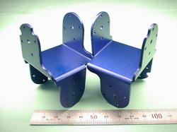二足歩行ロボットパーツ(ロボットキット・部品) : 精密板金加工 A5052P アルミニウム合金 青アルマイト処理 t2.0