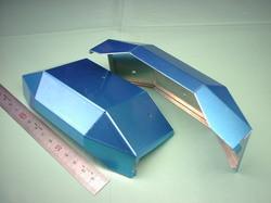 二足歩行ロボットパーツ(ロボットキット・部品) : 精密板金加工 A5052P アルミニウム合金 t0.8 : 試作部品