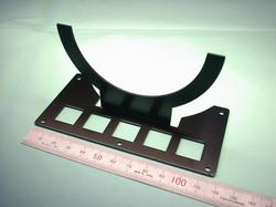 2足歩行ロボットパーツ(ロボットキット・部品) : 精密板金加工 A5052P アルミニウム合金 t1.5 黒アルマイト処理:ROBO-ONE用