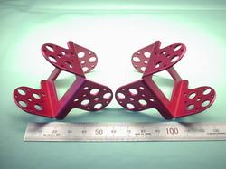 二足歩行ロボットパーツ(ロボットキット・部品) : 精密板金加工 A5052P アルミニウム合金 t1.5 (赤)ピンクアルマイト処理:ROBO-ONE用