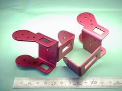 2足歩行ロボットパーツ(ロボットキット・部品) : 精密板金加工 A5052P アルミニウム合金 t1.5 (赤)ピンクアルマイト処理:ROBO-ONE用