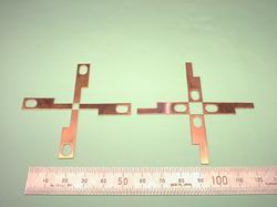板金加工 : 銅(無酸素銅) C1020P + ニッケルめっき 処理前 t0.6 試作加工