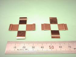 板金加工 : 銅(無酸素銅) C1020P + ニッケルメッキ 処理前 t0.6 試作加工