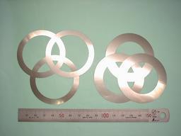 板金加工:ステンレスばね材 SUS304-CSP t0.03、t0.05、t0.07、t0.10