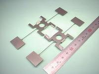精密板金加工 : ステンレス SUS316L ワイヤーカット+曲げ t0.5 干渉フィルタ 振動板試作