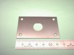 板金加工 : SPCC 鉄板 t1.0 ワイヤーカット(ワイヤー放電加工 又は ワイヤー加工)併用 : 試作加工