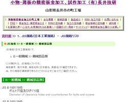 ねじ・ボルト・ナット・歯車・軸受・継手 など : JIS規格リスト(B.一般機械 >> 機械部品類) : 資料館